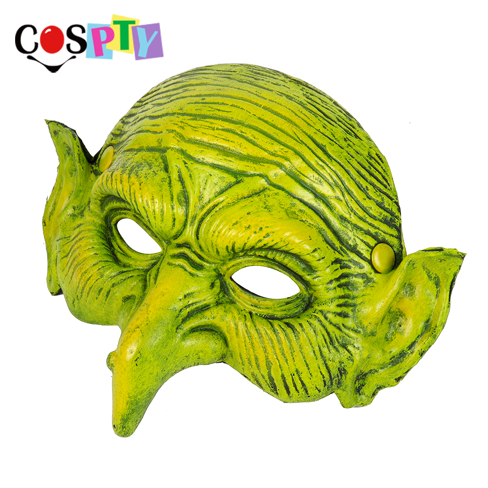 Half Face Cosplay Props Soft Halloween Witcher Party Mask PU Foam Scary Dress Up