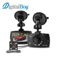 Digitalboy Dual Lens Car DVR H.264 Front Camera Full HD 1080P Car Camera Recorder External Rear Camera 720P Camcorder Dash Cam