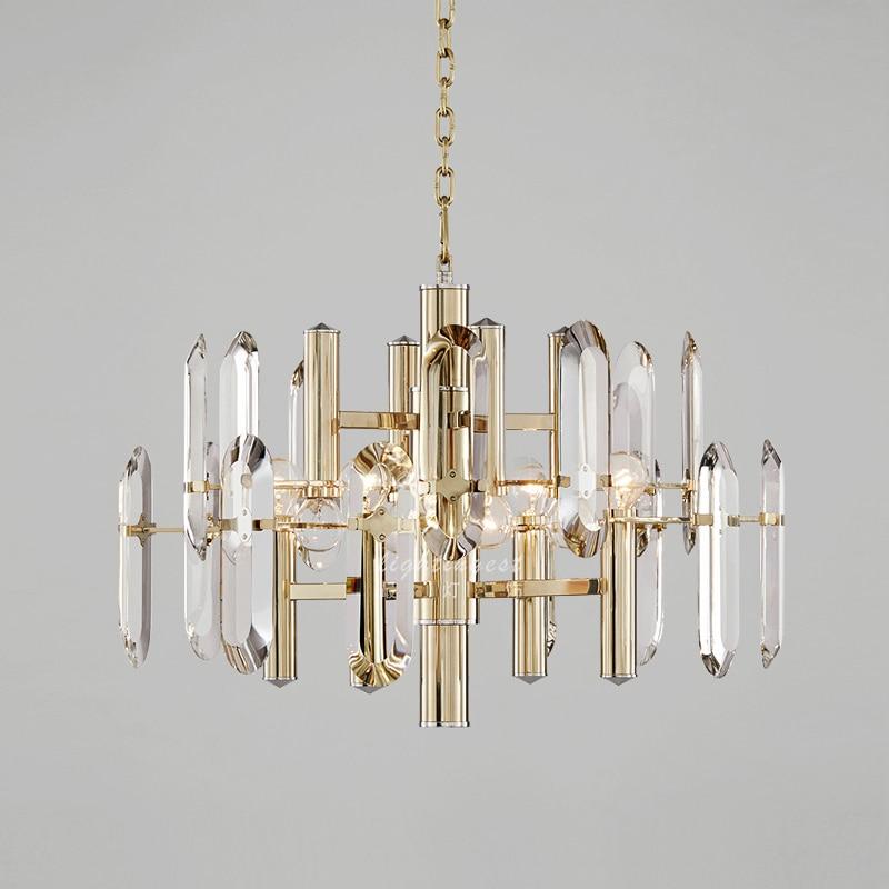 Lumină de pandantiv de cristal de lux Lampa suspendată cu cristale - Iluminatul interior - Fotografie 5