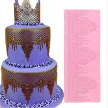 DIY Castle Silicone Cake Lace Mat Mold Fondant Decorating Tools Border Decoration Stencil Baking