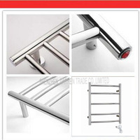 Free By DHL 1PC Supernova Sale Stainless Steel Electric Wall Mounted Towel Warmer Bathroom Accessories Racks