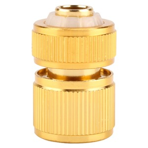 Image 2 - Drip Irrigation For Alloy Water Hose Connector Fitting Switch Nozzle Garden Pipe Quick Fit Adapter Tap Hose Connector