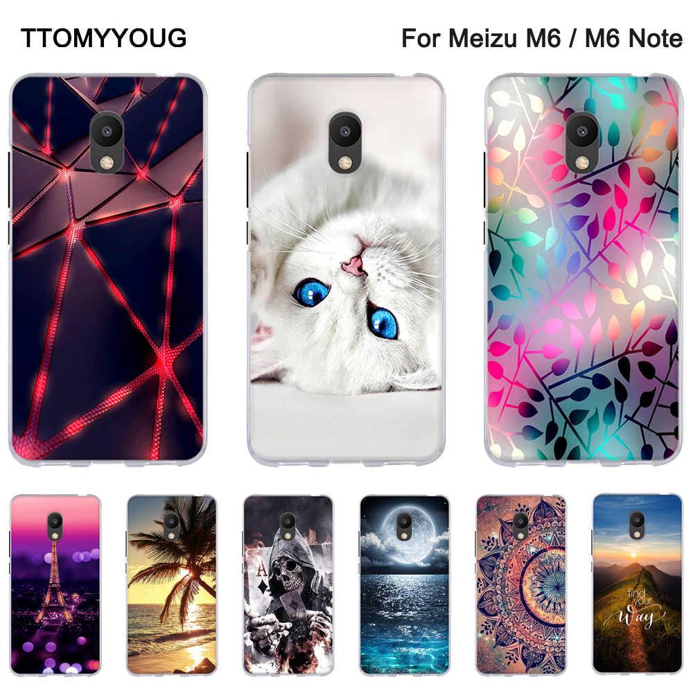 Lembut Silicone Case untuk Meizu M6 Note/Blue Charm Note 6 KEMBALI Ponsel Cover untuk Meizu M 6 Kerang silikon Fundas untuk Meizu M6 Catatan