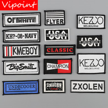 VIPOINT embroidery printed warning patches letter alphabet patches badges applique patches for clothing YM-2 цены