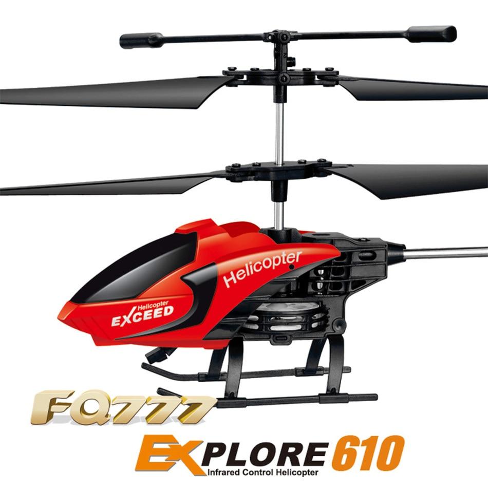 Profesional fq777-610 mini helicóptero 3.5ch 2.4 ghz rc drone quadcopter modo 2