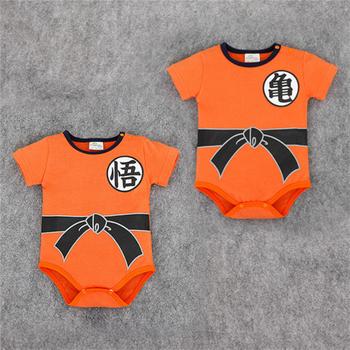 2020 nowonarodzone dziecko chłopięce ubrania dla niemowląt niemowlę dziecko z krótkim rękawem tkanina bawełniana letnie kombinezony Monkey king chiński list bodykit tanie i dobre opinie Prawdziwej skóry COTTON Nowość qf455 Drukuj baby O-neck Unisex Pasuje mniejszy niż zwykle proszę sprawdzić ten sklep jest dobór informacji
