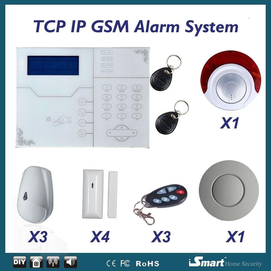 Eancan домашняя охранная сигнализация ST VGT сеть GSM сигнализация с защитой от домашних животных PIR датчик движения и вспышка Sirene