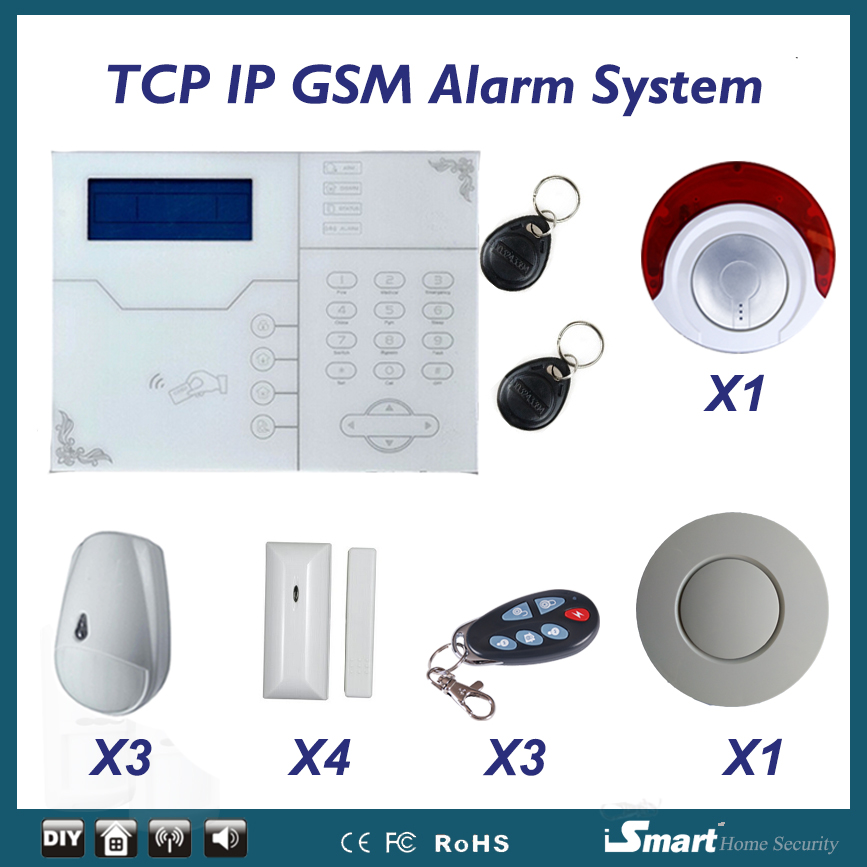 Eanmay Home Security Burglar Alarm System ST-VGT Network GSM Alarm with Pet Immunity PIR Motion Sensor and Flash Sirene 868mhz focus st vgt tcp ip ethernet gsm gprs alarm system with touch keypad and pet friendly pir sensor web ie programmable