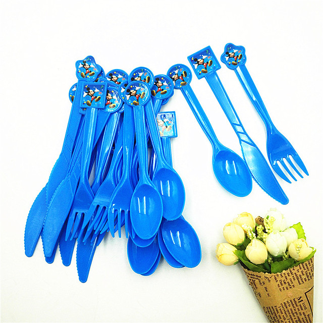 30pcs Mickey Mouse Party Supplies Knife Fork Spoon Disposable Tableware Birthday Festival Mickey Mouse Party Favors  sc 1 st  AliExpress.com & 30pcs Mickey Mouse Party Supplies Knife Fork Spoon Disposable ...