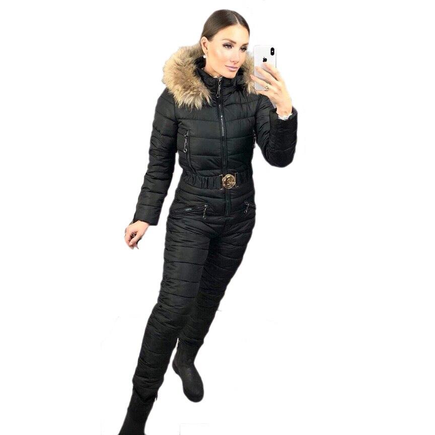 Ensemble de vêtements d'hiver pour femmes combinaison de Ski de haute qualité combinaison de Ski intégrée pour femmes - 3