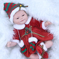 Latest Children Best Christmas Gift 17 Inch Silicone Reborn Baby Dolls Soft Realistic Newborn Girl Babies With Red Xmas Clothes