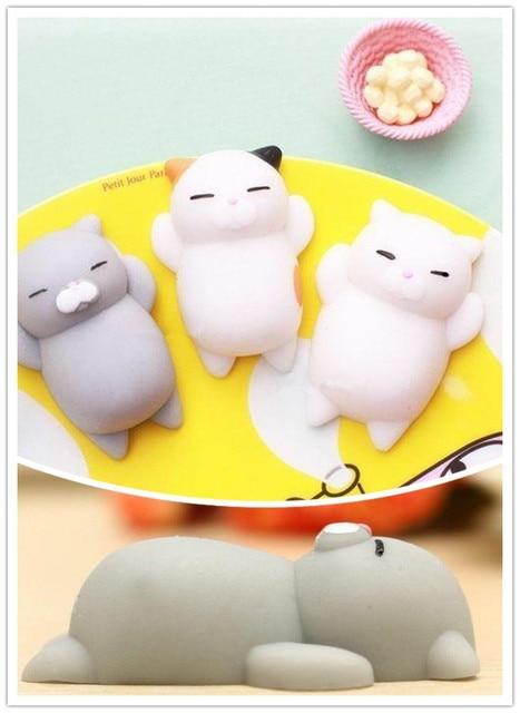 Aliexpress.com : Buy Japan Mochi Squeeze Cat Toy Squishy Healing ...