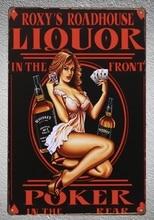 1pc Whisky Drink Liquor Poker Casino jack Tin Plate Sign wall man cave Decoration Man Art Poster metal vintage