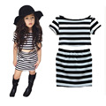 2016 Baby Girls Clothes 2pcs/set Summer Style stripes short sleeve+stripes Skirt Girls Clothing Set Children's Kids Clothes Sets