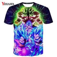 Men 3D Print T shirt Dragon Ball Z Goku Saiyan Vegeta Anime Casual Tee Shirts Graphic Short Sleeve Tops funny t shirts