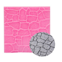 1pc Dry Wall Grain Stone Pattern Mat Fondant Silicone Mould Cake Decoration Sugar Mold Baking Sugarcraft Chocolate Mold