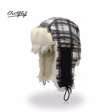 Outfly Winter fur Bomber Hats cold anti-snow protection ear