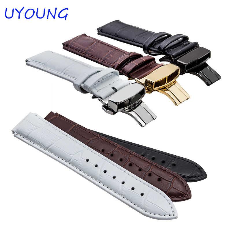 Kualitas kulit asli gelang jam 22*18mm klasik crocodiling mens tali untuk huawei smart watch
