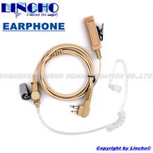 Hidden color PTT and mic walkie talkie covert acoustic clear tube earpiece P040 P080 P100 P110