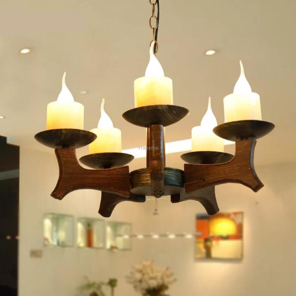 Wood Chandelier wood light Restaurant bar living room Wooden Restore Ancient 3/6 heads lamps wl32213 chinese style wood chandelier living room restaurant hotel aisle hotel retro lighting light e27 1 3 heads lamps za323440