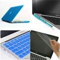 4на1 голубой оптово-мэтт прорезиненные жесткий чехол крышку ( 11 цветов ) + клавиатура + пленка + разъем для Apple Macbook Pro 13 '' A1278 бесплатная доставка
