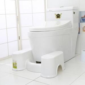 Image 2 - プラスチックノンスリップ浴室トイレ援助 squatty ステップ足スツールトイレ防ぐ便秘高速腸運動