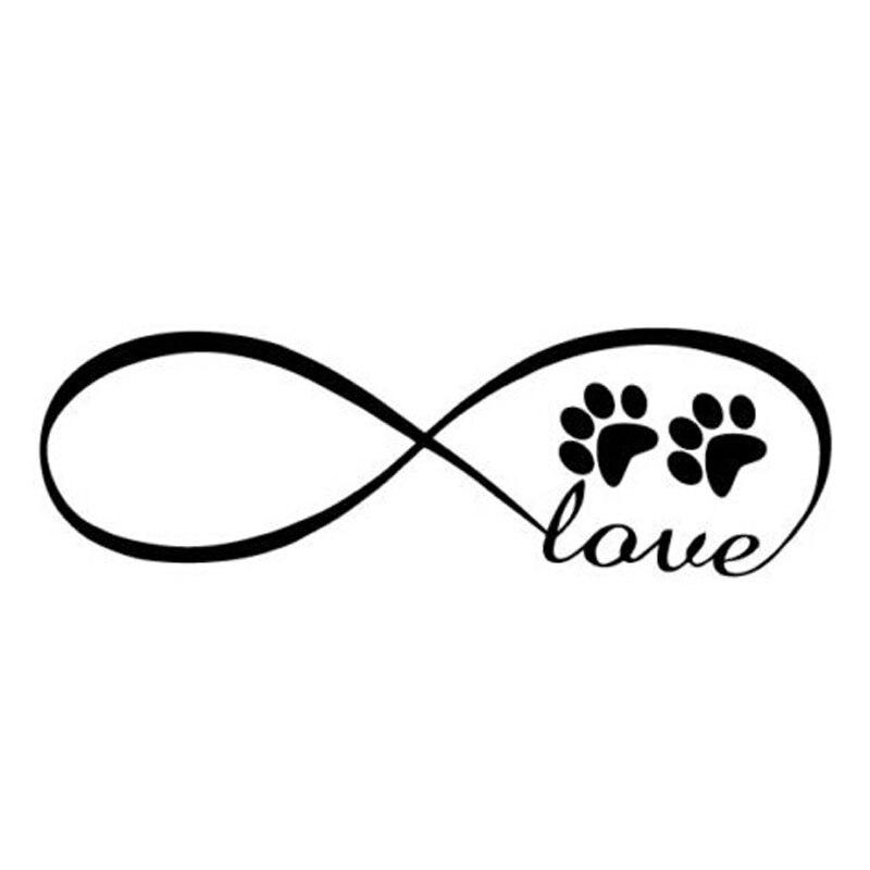Pegatina Vinilo Sticker Love Huella Perro
