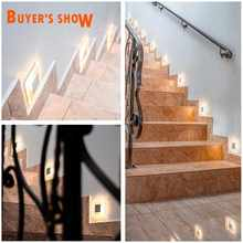 Modern LED wall light 3W acrylic wall sconce Embedded footlight Indoor Stair step decorative night lights Modern led wall lamps