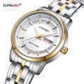 LONGBO Marca de Lujo Reloj Hombres de Marca Famosa A Prueba de agua Simple Reloj de Los Hombres de Negocios Reloj de Cuarzo Inoxidable Masculion Relogio Reloj
