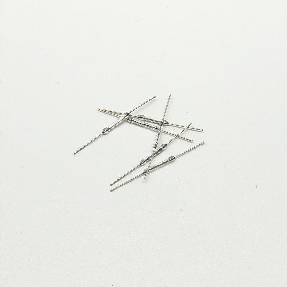 Shenzhenmaker 10 шт. 2x14 мм Геркон Нормально открытый магнитной индукции коммутаторы электромагнитных N/O Active Компоненты датчики