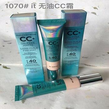 IT Cosmetics Your Skin But Better CC+ oil free matte sans huile fini mat pore minimizing full coverage cream 1