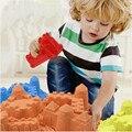 Portátil Castelo Edifício Interior Novidade Brinquedos de Praia De Areia De Molde Molde de Argila Argila Areia Mágica Modelo Crianças Brinquedos de Presente