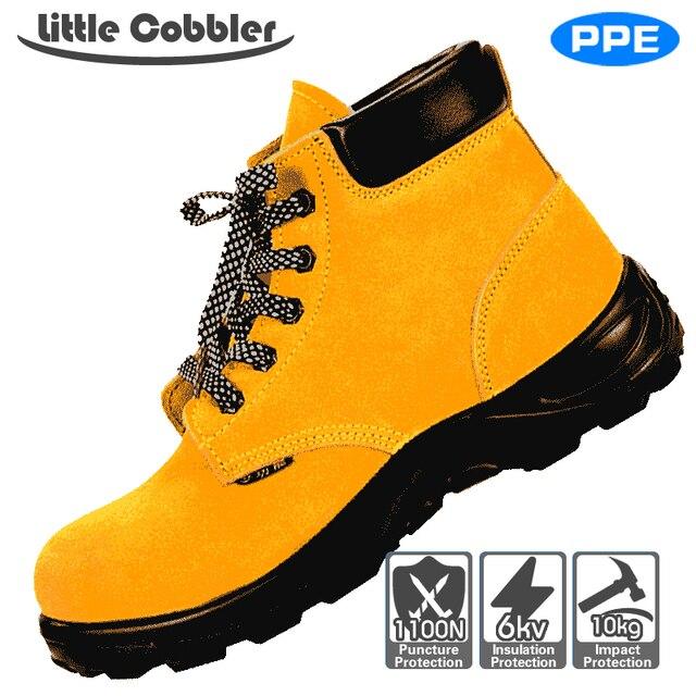 Erkek Kadın Güvenlik Ayakkabıları Çelik Burunlu Iş Deri Çizmeler Nefes erkek günlük çizmeler Delinme Dayanıklı Emek Sigortası Botları
