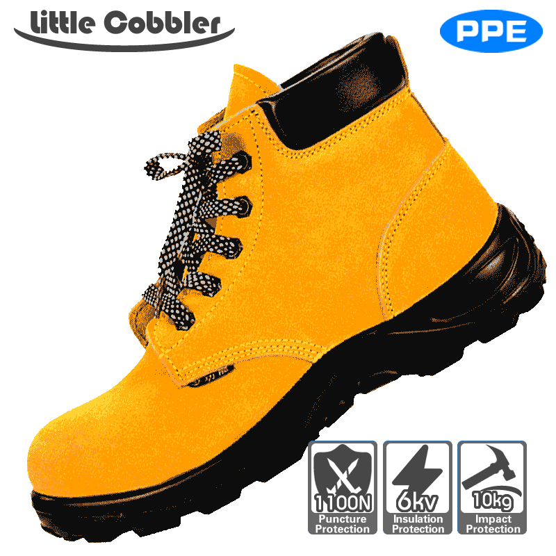 Men's Shoes Disciplined Leather Safety Shoes Mens Steel Toe Safety Work Shoes Non-slip Soft Electric Welding Boots Construction Protective Footwear