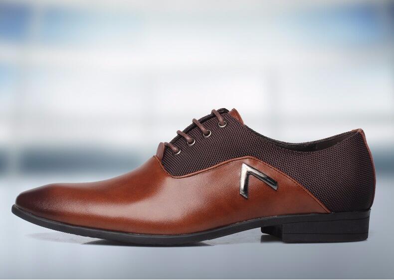Pointu Chaussures Grande Taille Hommes D'affaires de Smart Casual Chaussures En Cuir Design Élégant Beau Chaussures Glissement Sur Patchwork Robe Chaussures