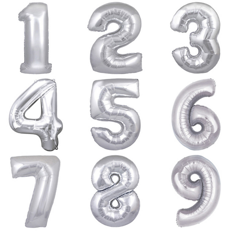 40-inches aluminum gold silver birthday balloons decoration party figures wholes