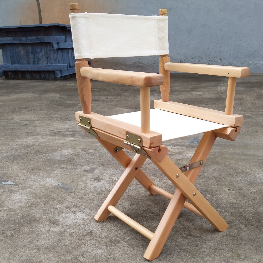 ... Kid Size Directors Foldable Chair In Canvas Fabric With Beech Wood  Children Furniture Wood Folding Portable ...