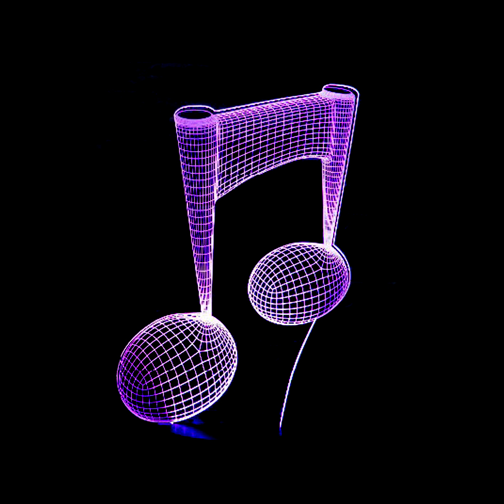 Music Note 3D USB Led Night Light 7colors Changing Christmas Mood Lamp Touch Button Living/bedroom Table/desk Lighting IY803725