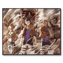 Attack on Titan Framed Pictures DIY Painting By Numbers Painting On Canvas Wall Art For Home Decor Acrylic Paint by number kits(China)