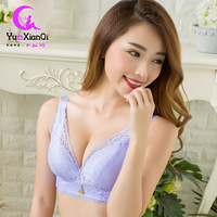 Hot New Non Steel Ring Bra Lace Non Magnetic Underwear Wide Straps Gather Adjustable Direct Manufacturers