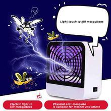 USB Электрический убийца москитов Синяя лампа Жук Zapper москитная ловушка насекомых свет безвредные и радиационные характеристики