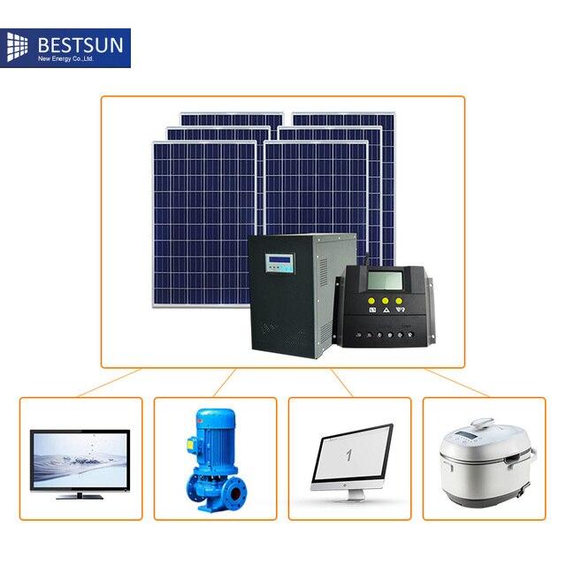 US $1433 0 |300w 500w 1000w 1kw solar panel system ,off grid solar  energyhome lighting power system price 3000W solar electric system-in  System from