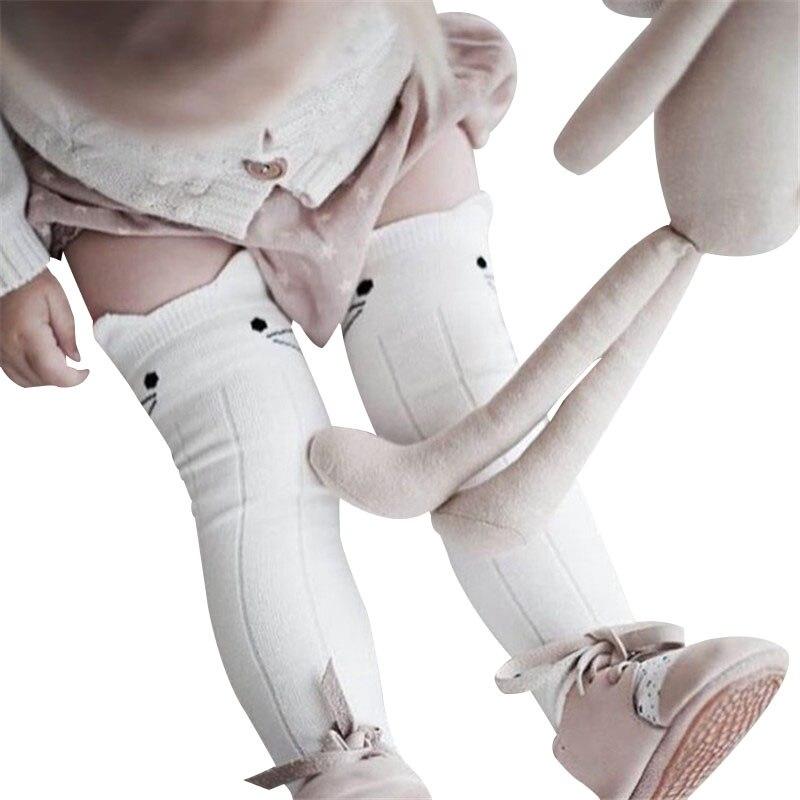 Cotton Girls Socks Long Baby Knee High Socks Cat Style Princess Kids Socks Girl Cute Baby Sock Baby Girl Clothes 0 To 3 Years