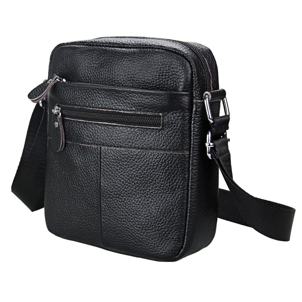 Men Shoulder Bag Genuine Leather Small Messenger Bag Men Leather Shoulder Man Bags Soft Cowhide Postman Crossbody Sling bag Male