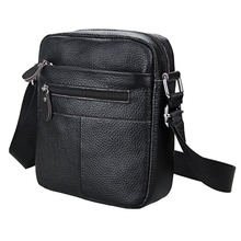 лучшая цена Men Shoulder Bag Genuine Leather Small Messenger Bag Men Leather Shoulder Man Bags Soft Cowhide Postman Crossbody Sling bag Male