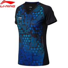 Li-Ning Women Table Tennis T-shirt For National Team Breathable LiNing Competition Sports T-shirts Tops AAYN056 WTS1411