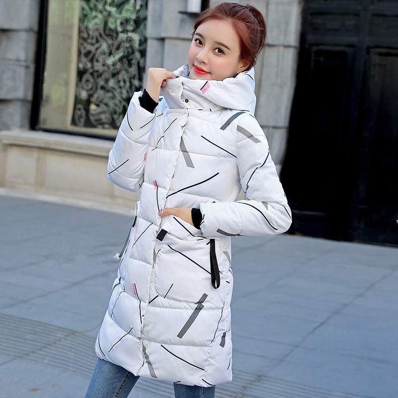 New Winter Women's Jacket Coat Windproof Warm Women   Parkas   Thickening Cotton Padded Female printing Jacket Brand New Collection
