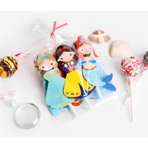 Image 4 - 54Pcs Superhero/Princess Candy Paper Lollipop Decoration Card Kids Birthday Party DIY Candy Gift Supply
