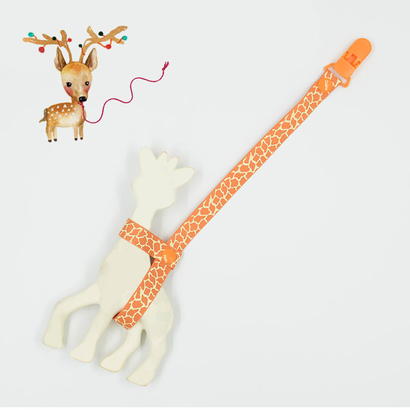 35CM BABY Giraffe Holder Chain Clip Teehter Holder Anti Lost Teether Clip Chain Pacifier Clip For Pacifier B0832