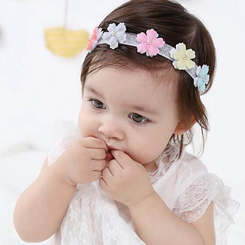 Cute Floral Headband Baby Girls Flower Head Band Daily